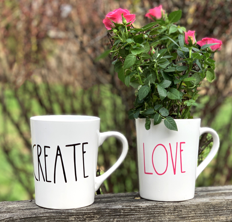 Rae Dunn Inspired Coffee Mug/Planter